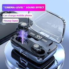 AliExpress M11 słuchawki bezprzewodowe TWS Bluetooth 5.0 słuchawki 3300mah HiFi IPX7 wodoodporne słuchawki recenzja